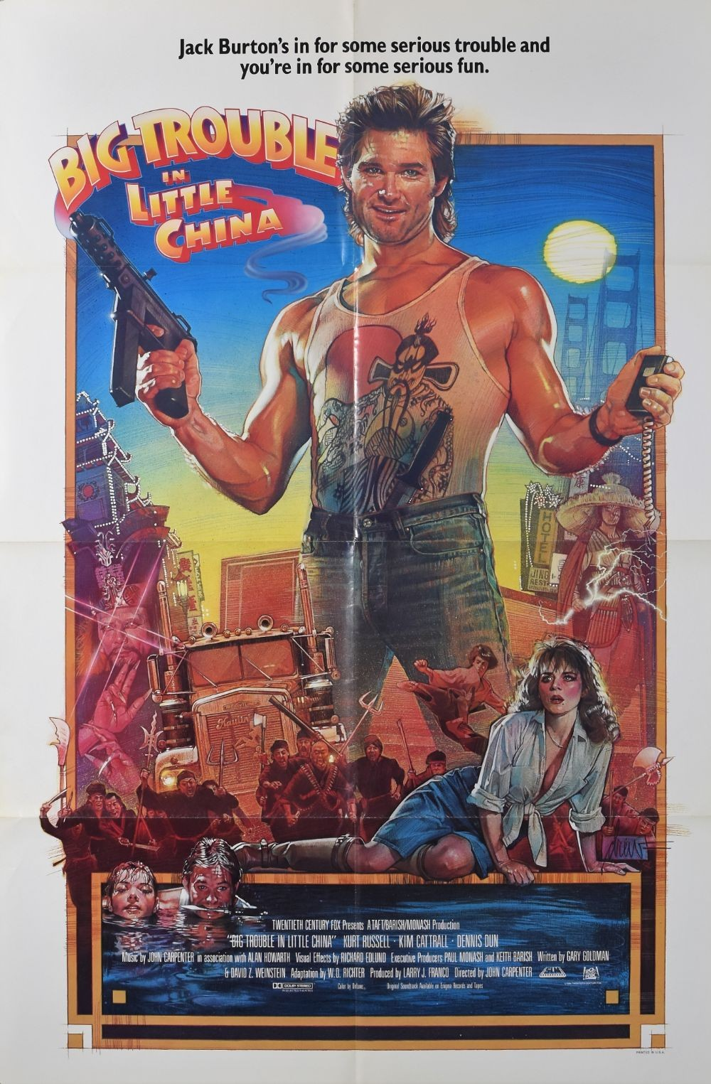 Big Trouble in Little China original movie poster