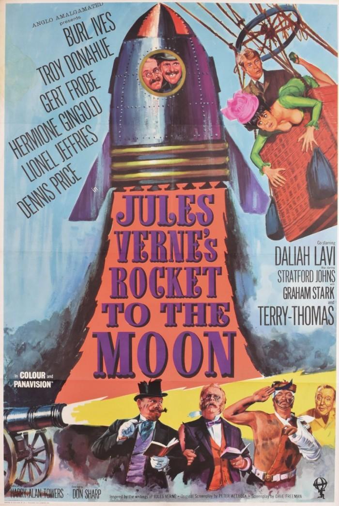 Jule's Verne's Rocket to the Moon original movie poster