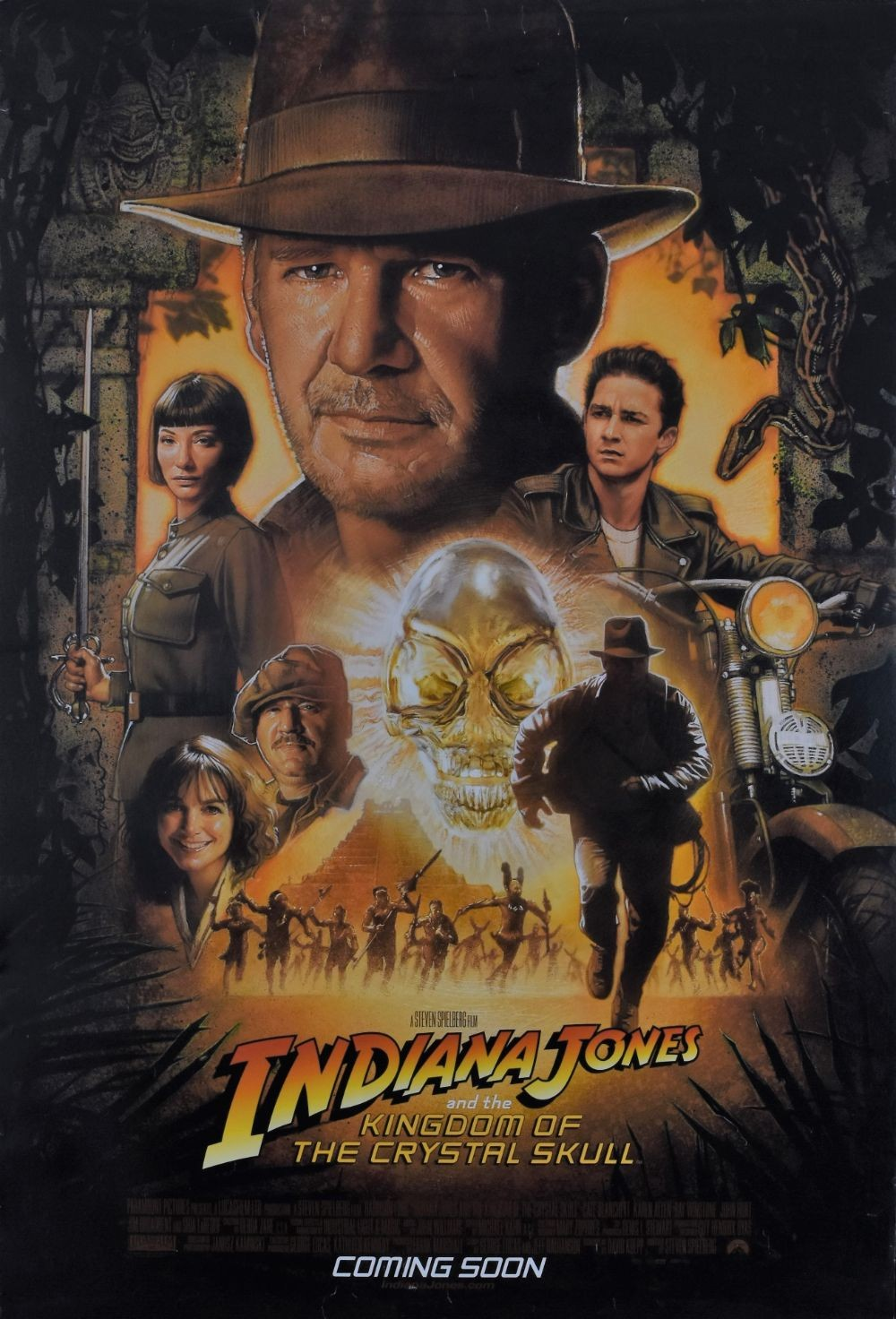Indiana Jones and the Kingdom of the Crystal Skull original movie poster