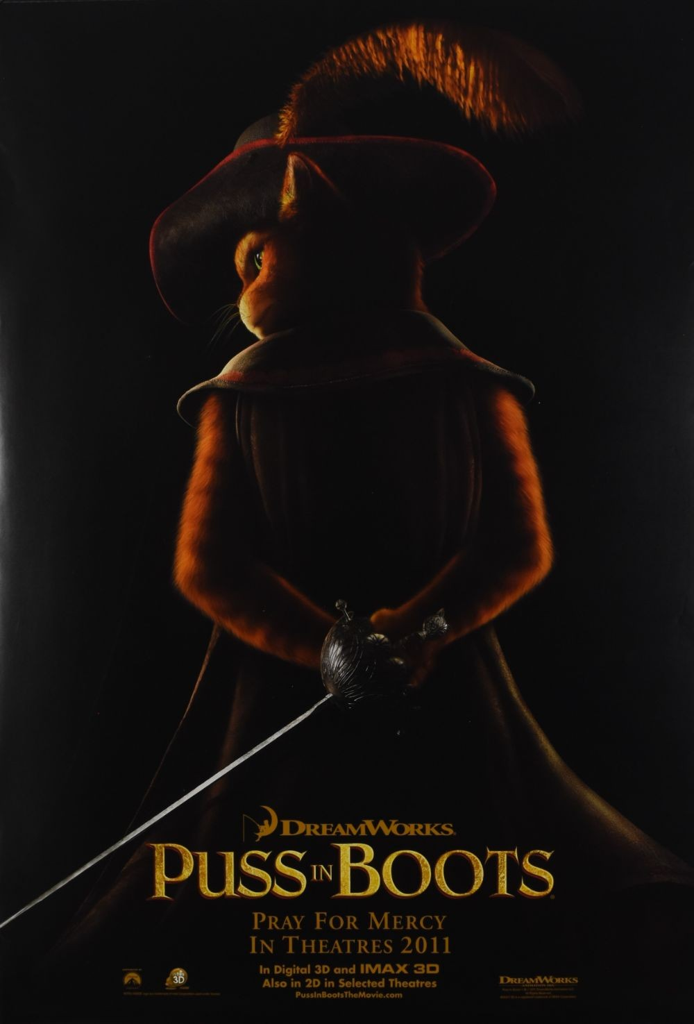 Puss in Boots original movie poster